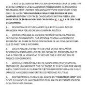 Sindicato CNN y Chilevisión contra Chile Vamos