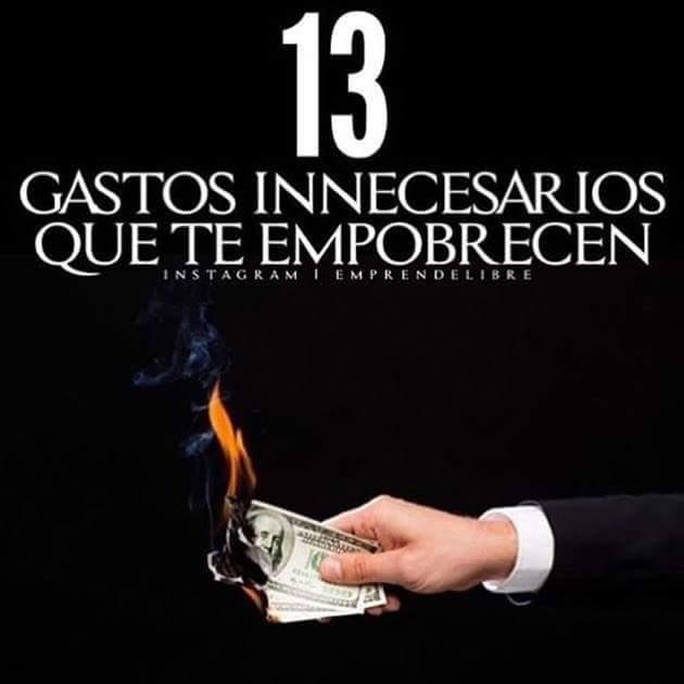 13 gastos que te hacen pobre