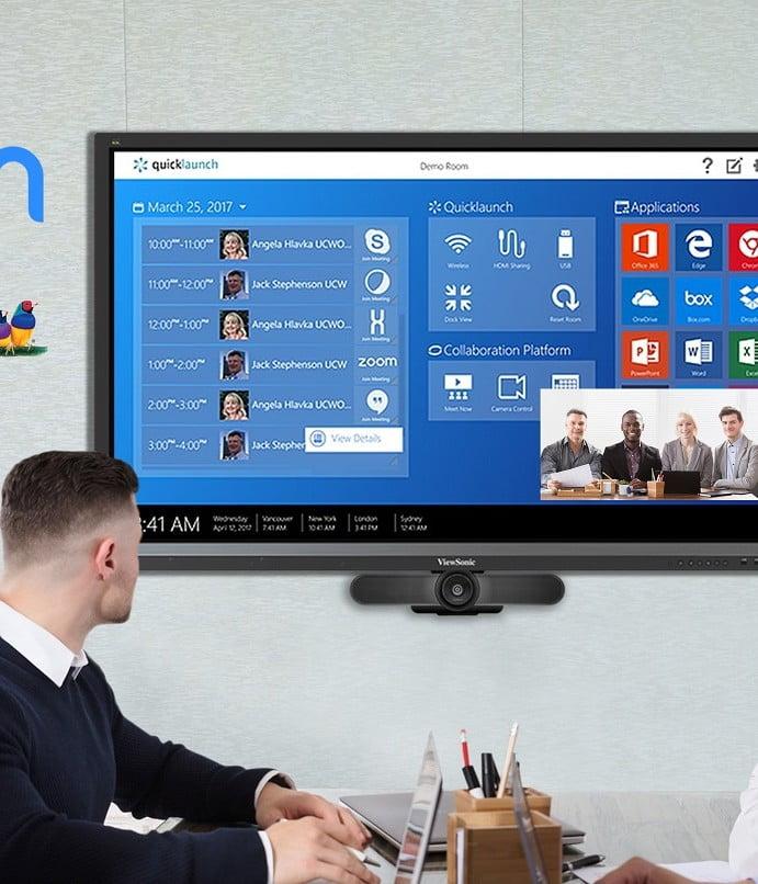 ViewSonic integra software Zoom para impulsar la colaboración en los espacios de trabajo