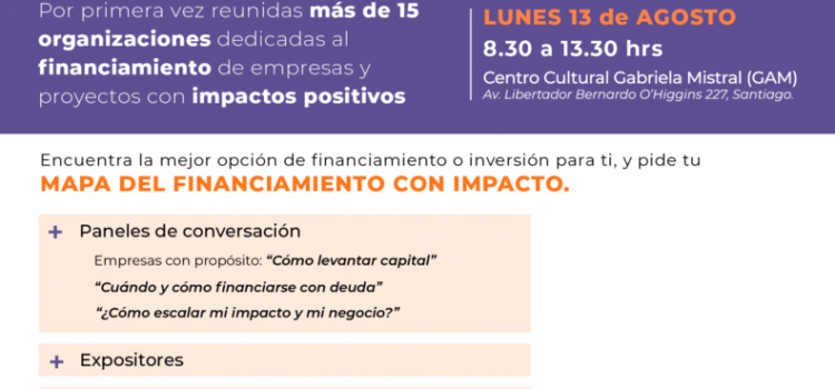 Se realizará en Chile la Primera Cumbre de Financiamiento con Impacto