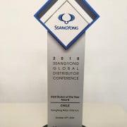 Ssangyong Chile recibe reconocimeinto como el mejor distribuidor a nivel mundial