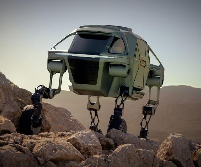 Prototipo de auto que camina de Hyundai muestra el futuro de los vehículos de rescate